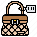 bag, barcode, code, data, label, price, tag icon