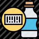 barcode, beverage, bottle, code, data, label, qr icon