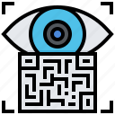 barcode, code, data, eye, label, qr, scan icon