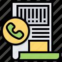 document, file, phone, prepaid icon