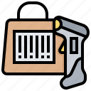 barcode, code, data, label, qr, scanner icon