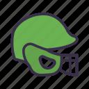 baseball, game, helmet, protection, sport icon