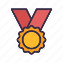 award, badge, baseball, medal, sport, trophy, winner icon