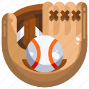 ball, baseball, glove, sports, team icon