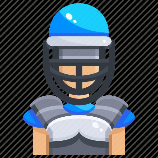 avatar, ball, baseball, catch, catcher, people, sports icon