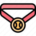 award, ball, baseball, medal icon