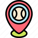 ball, baseball, pin, placeholder icon