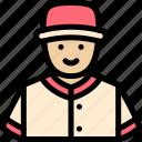 ball, baseball, pitcher, player icon