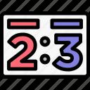 ball, baseball, score, scoreboard icon
