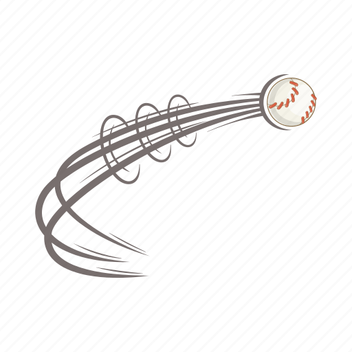 ball, baseball, cartoon, competition, exercise, fly, hit icon