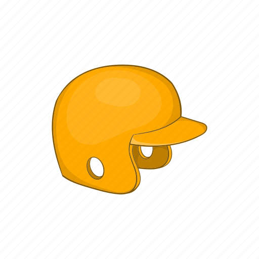baseball, cartoon, equipment, game, helmet, play, sport icon