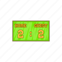 baseball, cartoon, game, home, score, scoreboard, strike icon