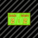 baseball, cartoon, game, home, score, scoreboard, strike