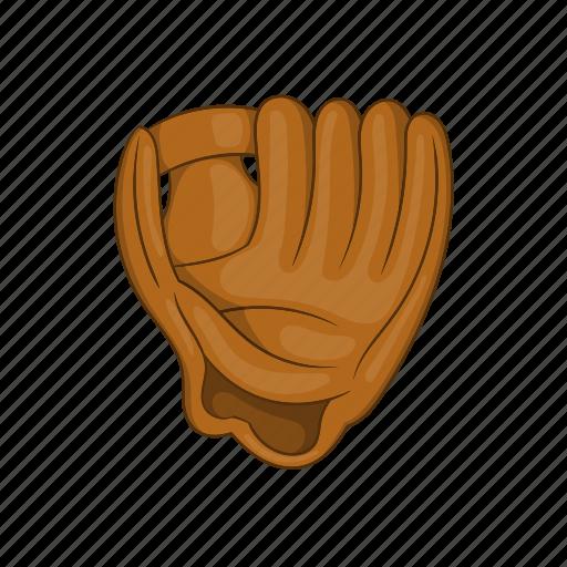 ball, baseball, cartoon, equipment, glove, leather, sport icon