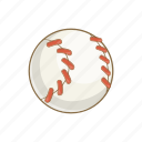 ball, baseball, cartoon, equipment, leisure, object, sport icon