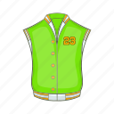 american, baseball, cartoon, fashion, jacket, retro, studio icon