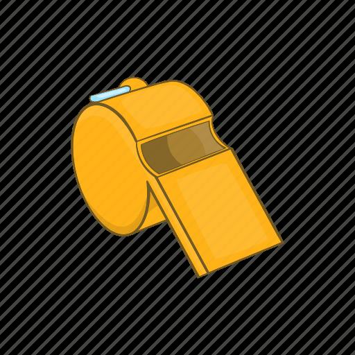 cartoon, closeup, equipment, metal, security, sport, whistle icon