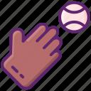 ball, baseball, batter, glove icon