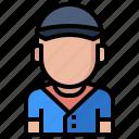 baseball, man, people, player, profile, sports, user icon