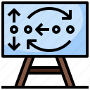 baseball, board, directions, planning, position, strategy, tactics icon