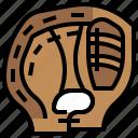 baseball, equipment, game, glove, softball, sport, team icon