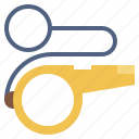 instrument, musical, police, referee, tool, whistle, whistles icon
