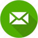 circle, email, letter, mail, message, messages icon icon