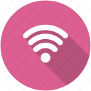 circle, internet, network, signal, wifi, wireless icon icon