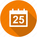 appointment, calendar, circle, date, deadline, due, event icon icon