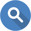browse, circle, discover, explore, search, view icon icon