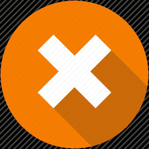 cancel, circle, close, delete, dismiss, red, remove icon icon