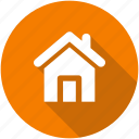 address, casa, circle, home, house, local icon