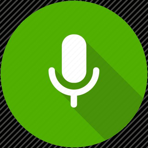 circle, mic, microphone, recording, speaker, speech icon icon