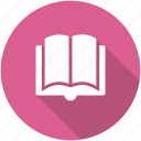 bookmark, circle, learn, library, read, reading icon icon
