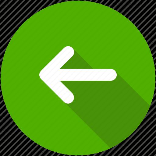 arrow, back, blue, circle, left, previous, west icon icon