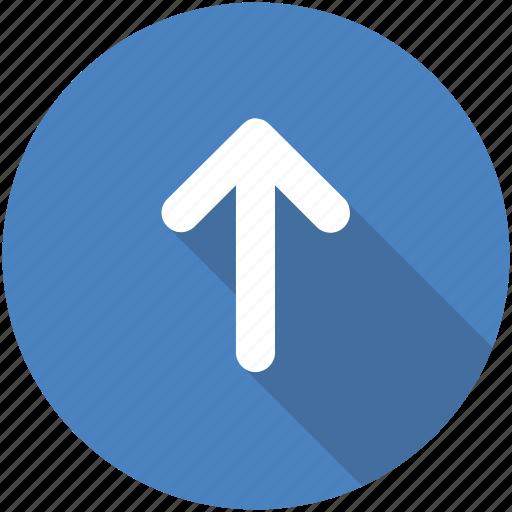 arrow, circle, climb, direction, green, north, up icon icon