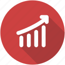 chart, circle, graph, green, revenue growth, sales, success icon icon