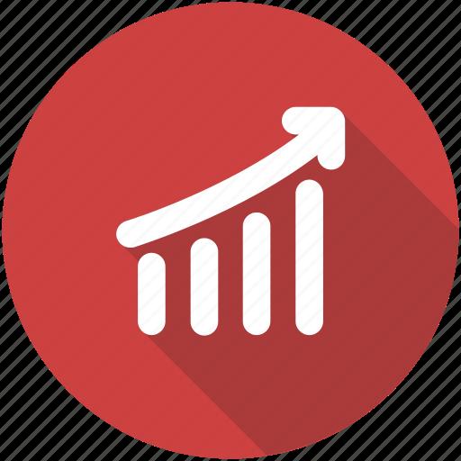 chart, circle, graph, green, revenue growth, sales, success icon icon