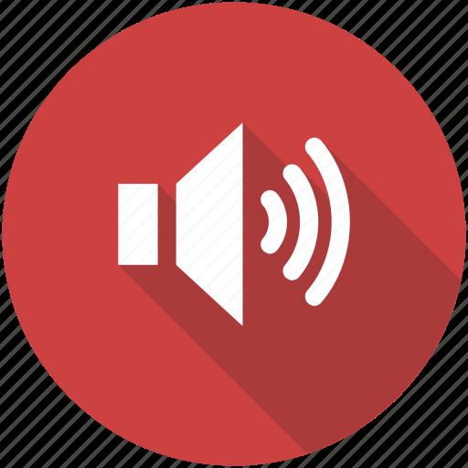 circle, music, sound, sounds, speaker, volume icon icon