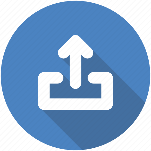 circle, export, ios, share, sharing, social icon, upload icon