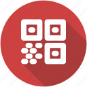 barcode, circle, code, qr, qrcode, quick response icon