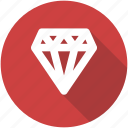 best, blue, circle, diamond, gem, jewelry, premium icon icon