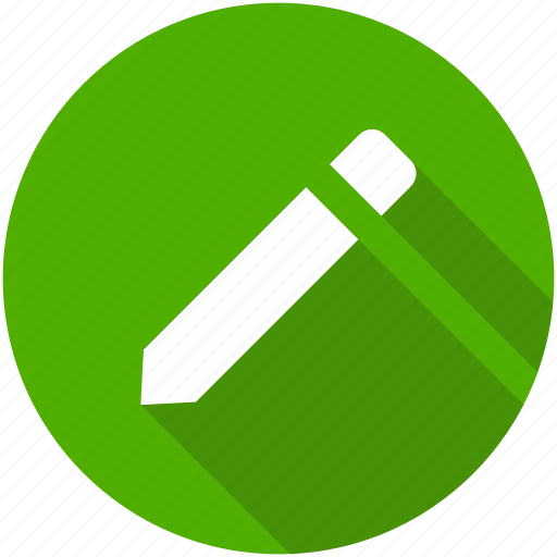 circle, compose, draw, edit, pencil, write icon icon