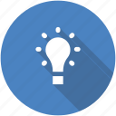 circle, creativity, entrepreneur, idea, light bulb, lightbulb icon icon