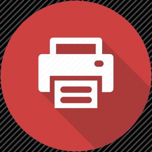 circle, copier, office, print, printer, printing icon icon