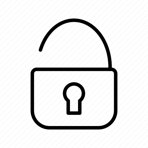protection, security, unlock icon