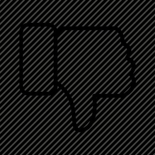 dislike, down, unlike icon