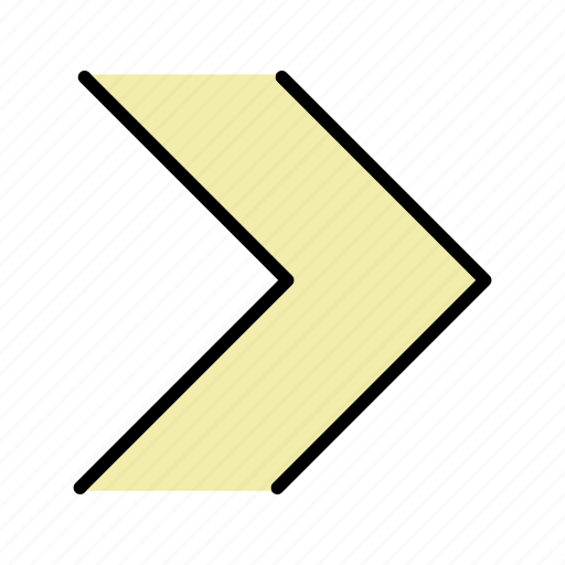 direction, forward, next, right icon