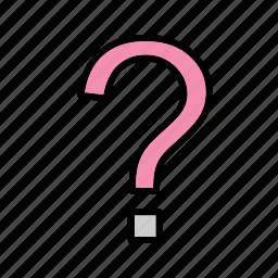 faq, mark, question, sign icon