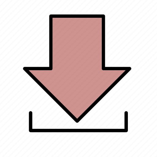 arrow, direction, down, download, load icon
